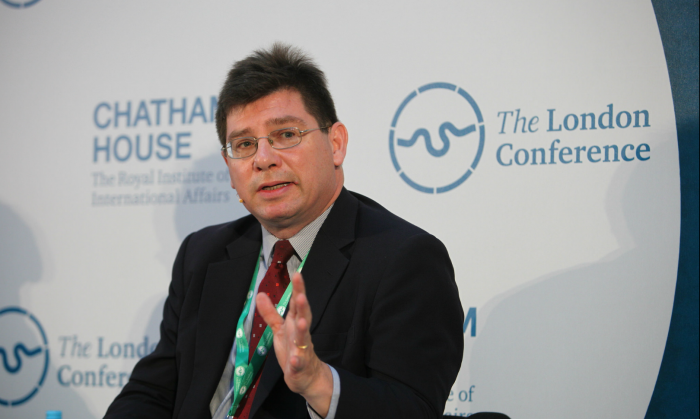 François Crépeau at the London Conference, June 2, 2015.