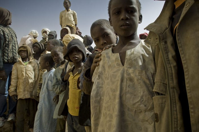 Darfurians refugees in Eastern Chad.