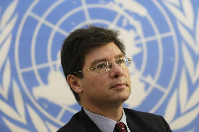 François Crépeau at the United Nations in 2013.