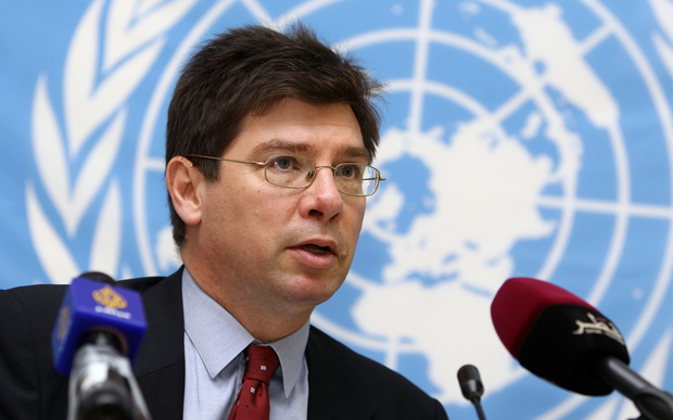 François Crépeau at the United Nations.