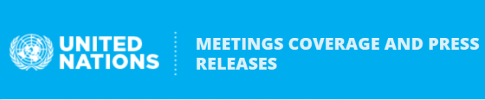 Logo ''United Nations - Meetings coverage and press releases''