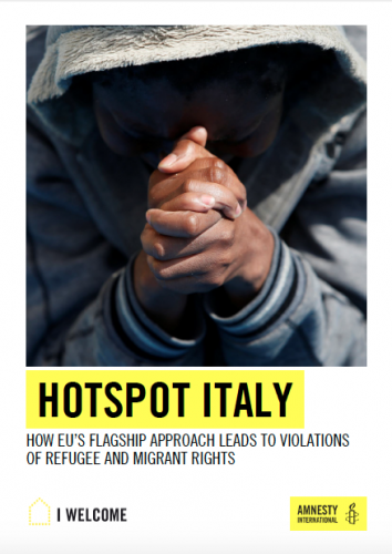 Cover page of the Amnesty International Report on Human Rights violations related to the EU hotspot system.