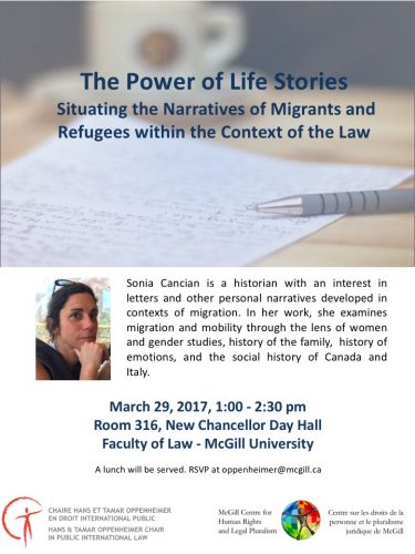 The Power of Life Stories: Situating the Narratives of Migrants and Refugees  within the Context of the Law