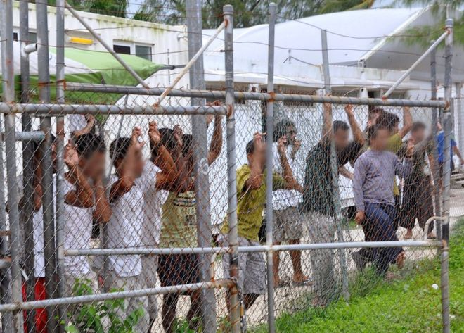 This picture taken in 2014 shows asylum-seekers at a Manus Island detention centre. Photo Credit: Reuters