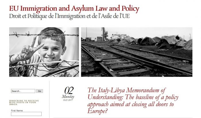 The Italy-Libya Memorandum of Understanding: The baseline of a policy approach aimed at closing all doors to Europe?