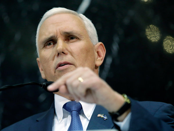 A portrait of Governor Pence.