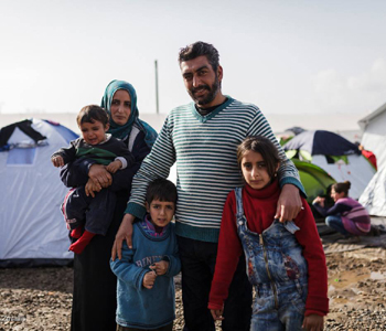 Family of Syrian refugees