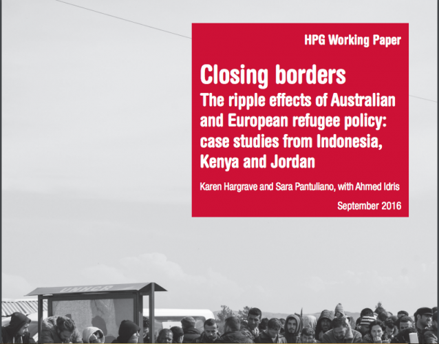 Closing borders – The ripple effects of Australian and European refugee policy: case studies from Indonesia, Kenya and Jordan