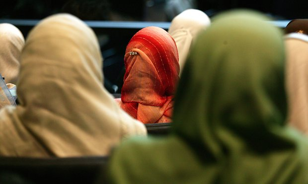 Picture showing a few Muslim women sitting together