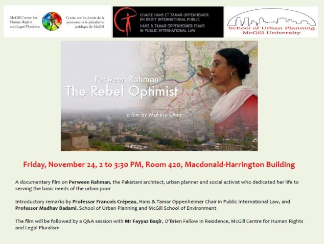 Perween Rehman: The Rebel Optimist (a film by Mahera Omar)