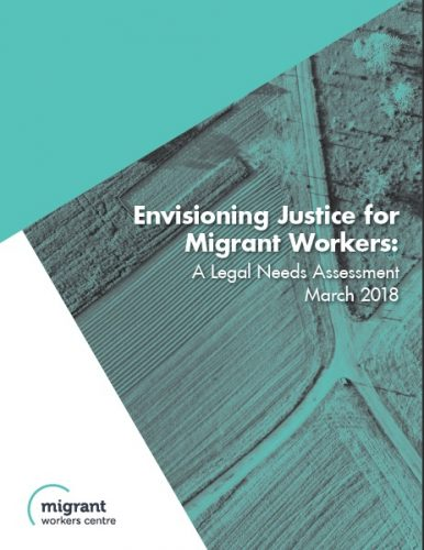 Envisioning Justice for Migrant Workers : A Legal Needs Assessment
